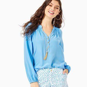 Lilly Pulitzer Elsa Silk Top, Blue